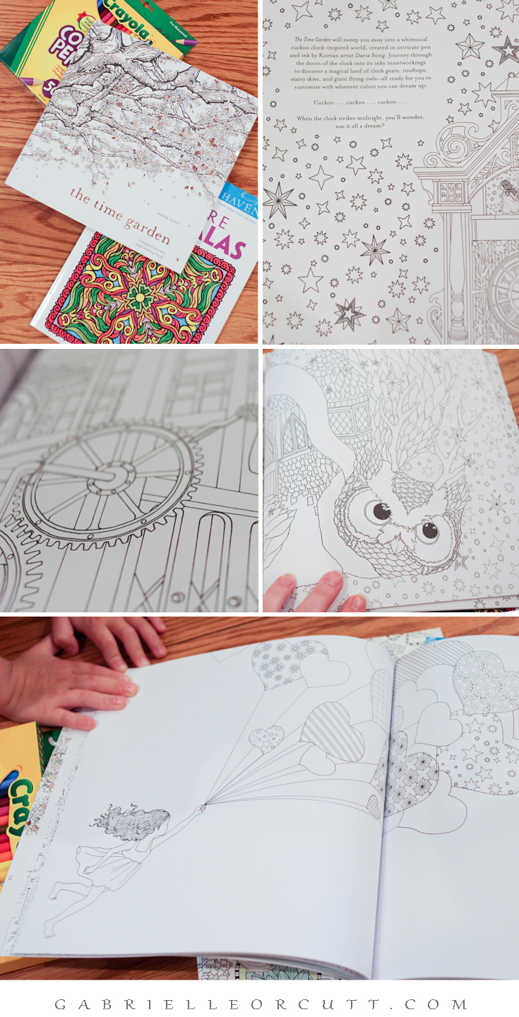Coloring Book The Time Garden Adult
