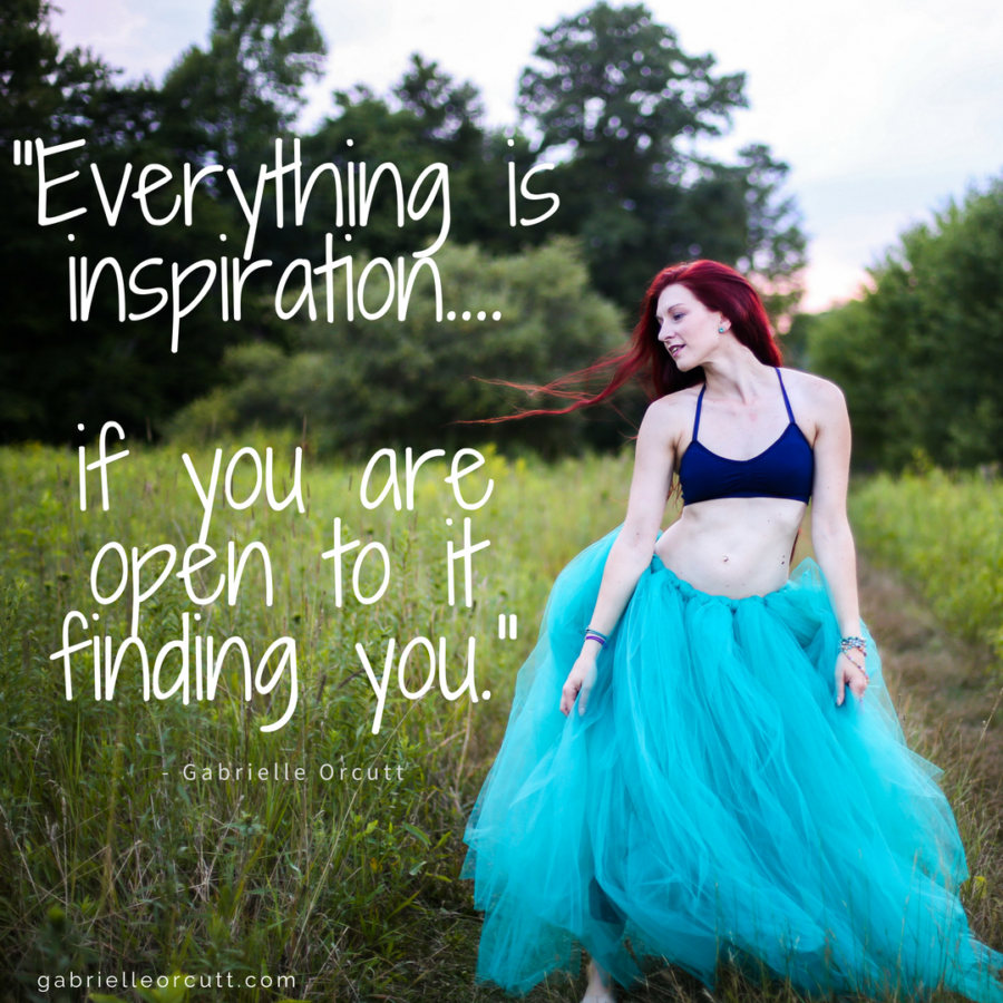 everything is inspiration if you are open to it finding you Gabrielle Orcutt Yoga portraits coaching life design