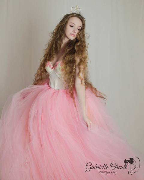 becca birthday photo shoot big tulle skirt tiara crown glamour headshot gabrielle orcutt photography rockton dubois brockway brookville clearfield state college pa
